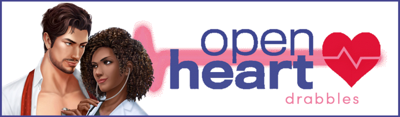 Header for Open Heart drabbles. It includes an image of Ethan Ramsey and MC.